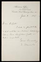 Letter from N. Maccoll to Dear Rossetti [William Michael Rossetti]