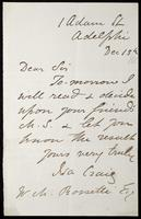 Letter from Isa Craig to William Michael Rossetti