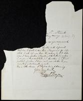 Letter from George P. Boyce to William Michael Rossetti