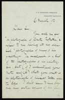 Letter to A. Carter, with envelope