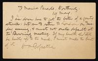 Postcard to W.B. Slater