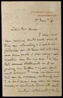 Letter to Mr. Howe