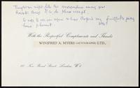 Note to William Doremus Paden [?]