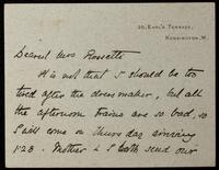"""Letter to """"Dearest Mrs Rossetti"""" (Lucy Madox Brown Rossetti)"""