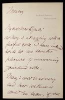 """Letter to """"My dear Mrs Rossetti"""" (Lucy Madox Brown Rossetti)"""