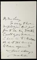 """Letter to """"My Dear Lucy"""" (Lucy Madox Brown Rossetti)"""