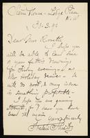 """Letter to """"Dear Mrs. Rossetti"""" (Lucy Madox Brown Rossetti)"""