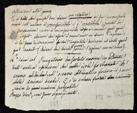 Literary scrap in Italian. Unsigned