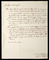 Letter to Miss T. C. I. Whitby [in Italian]