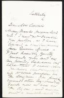 Letter to Mrs Coronio [Aglaia Coronio]
