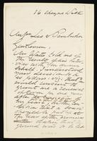Letter addressed to Mssrs Lee & Pemberton [concerning Theodore Watts-Dunton]