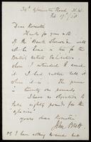 """Letter to """"Dear Rossetti"""" [William Michael Rossetti]"""
