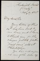 Letter to William Michael Rossetti