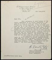 """Letter to """"Dear Sir"""" [J. W. Robertson Scott, Esq.]"""