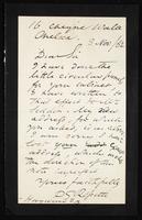 Letter to Dear Sir [Hayward Esq]
