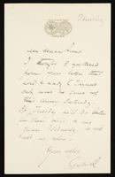 Letter to My dear Aunt [Charlotte Polidori]