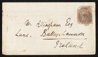 Envelope addressed to Mr. Allingham Esq.