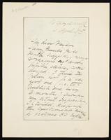 Letter to Haydon [Haydon, Samuel J. B.]