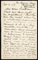 Letter to Smetham [James Smetham]