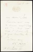 Letter to H. V. Tebbs [H. V. (Henry Virtue) Tebbs ]