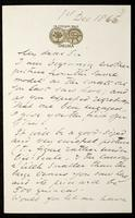 Letter to W. Blackmore (William Blackmore)