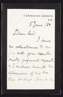 Letter to Alfred St. Johnston