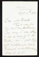 Letter from William Morris to Christina Rossetti