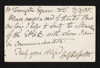 Postcard to Frederic James Shields