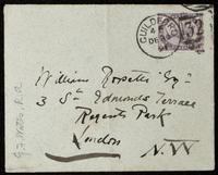 Envelope addressed to William Rossetti