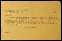"Carbon Copy Letter to ""Dear Sir"" regarding Olivia Rossetti Agresti"