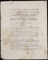 El Congreso Federal de la República de Centro-américa ... ha acordado reformarla de la manera siguiente. Constitución de la Repúblic Federal de Centro-américa