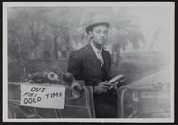 Man in studio car