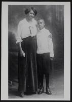 Cally Clark and son
