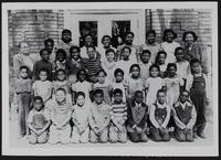 Norma Estelle's school class, Lincoln School, North Lawrence