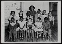 Everett Estelle's school class, Lincoln School, North Lawrence