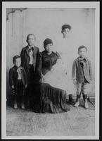 James family (l-r): Bruce, Willie, Martha (mother?), Frank, Rachel, and Fred