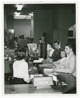 Students at the Circulation Desk