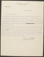 Correspondence between James Naismith and Chancellor Frank Strong / Board of Regents
